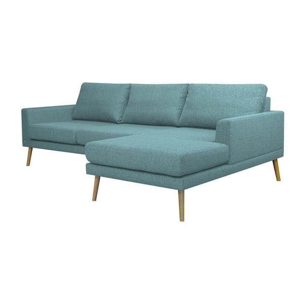 Modrá rohová pohovka Windsor & Co Sofas Vega, pravý roh