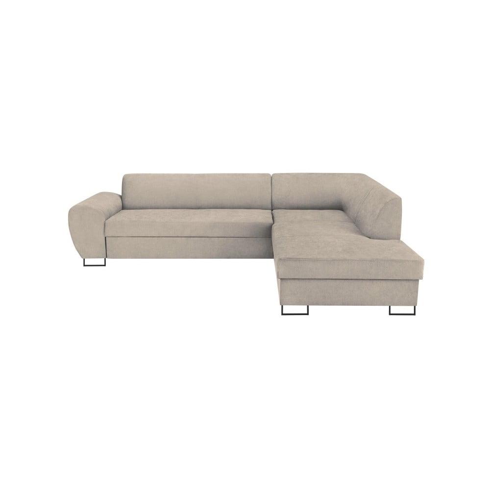 Béžová rohová rozkládací pohovka s úložným prostorem Kooko Home XL Right Corner Sofa Puro