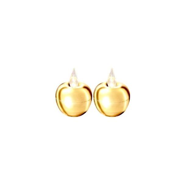 Sada 2 světelných dekorací Best Season Apple Gold
