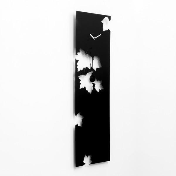 Nástěnné kyvadlové hodiny Swing Time Steel, černé