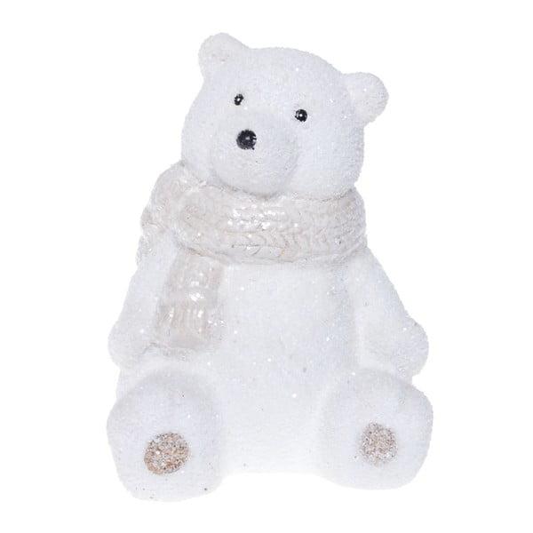 Bílá keramická dekorativní soška Ewax Polar Bear, výška14cm