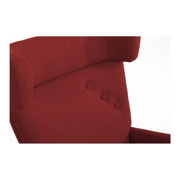 Červené křeslo ušák Max Winzer Hajo