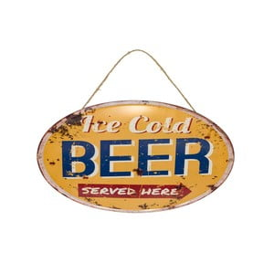 Nástěnná retro cedule Novita Beer