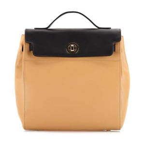 Kožená kabelka/batůžek Elegance Yellow