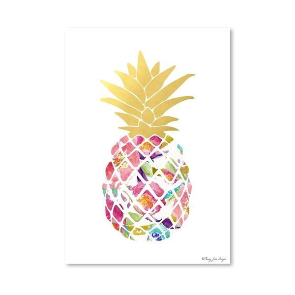 Plakát Watercolor Floral Pineapple