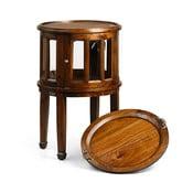 Kulatý stolek s průhledným úložným prostorem Moycor
