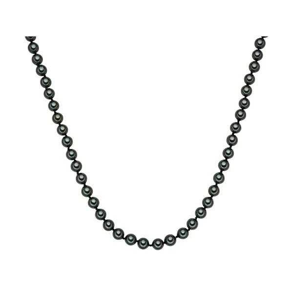 Perlový náhrdelník Muschel, zelené perly 8 mm, délka 45 cm