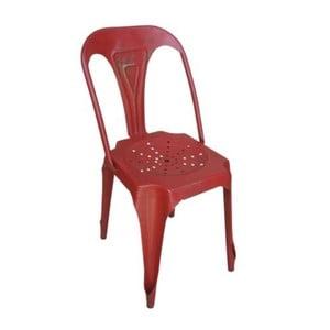 Kovová židle Chaise Rouge