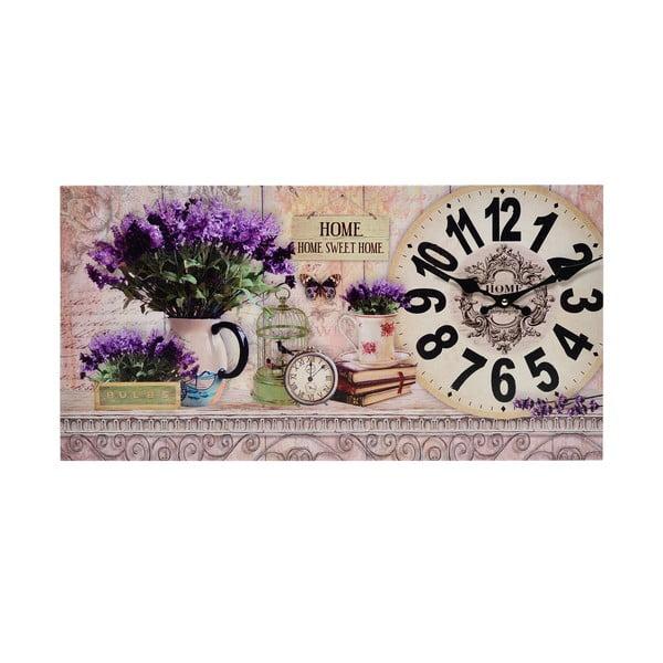 Hodiny na plátně Lavender
