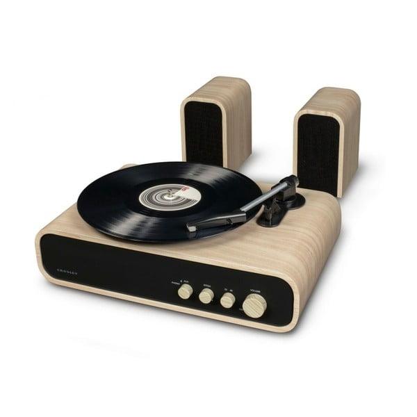 Béžovo-černý gramofon Crosley Gig