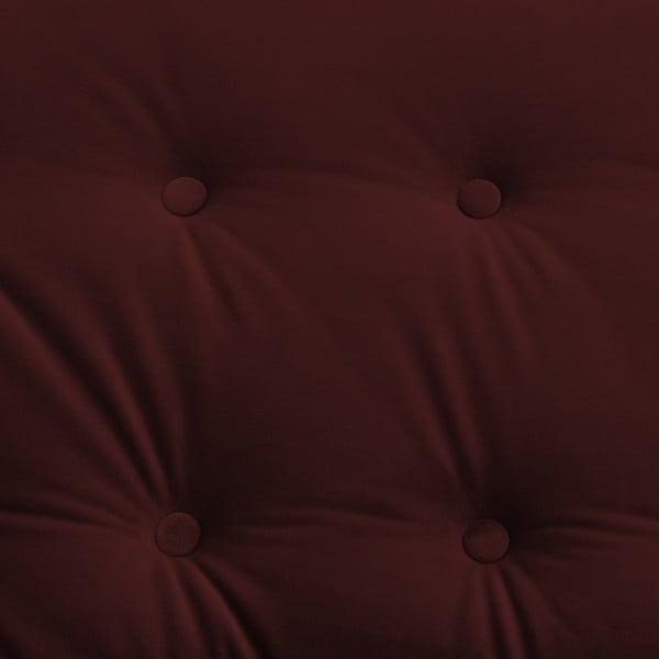 Canapea 3 locuri Vivonita Laurel, roșu închis