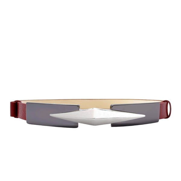 Nastavitelný kožený pásek Royc červený, 66 až 100 cm