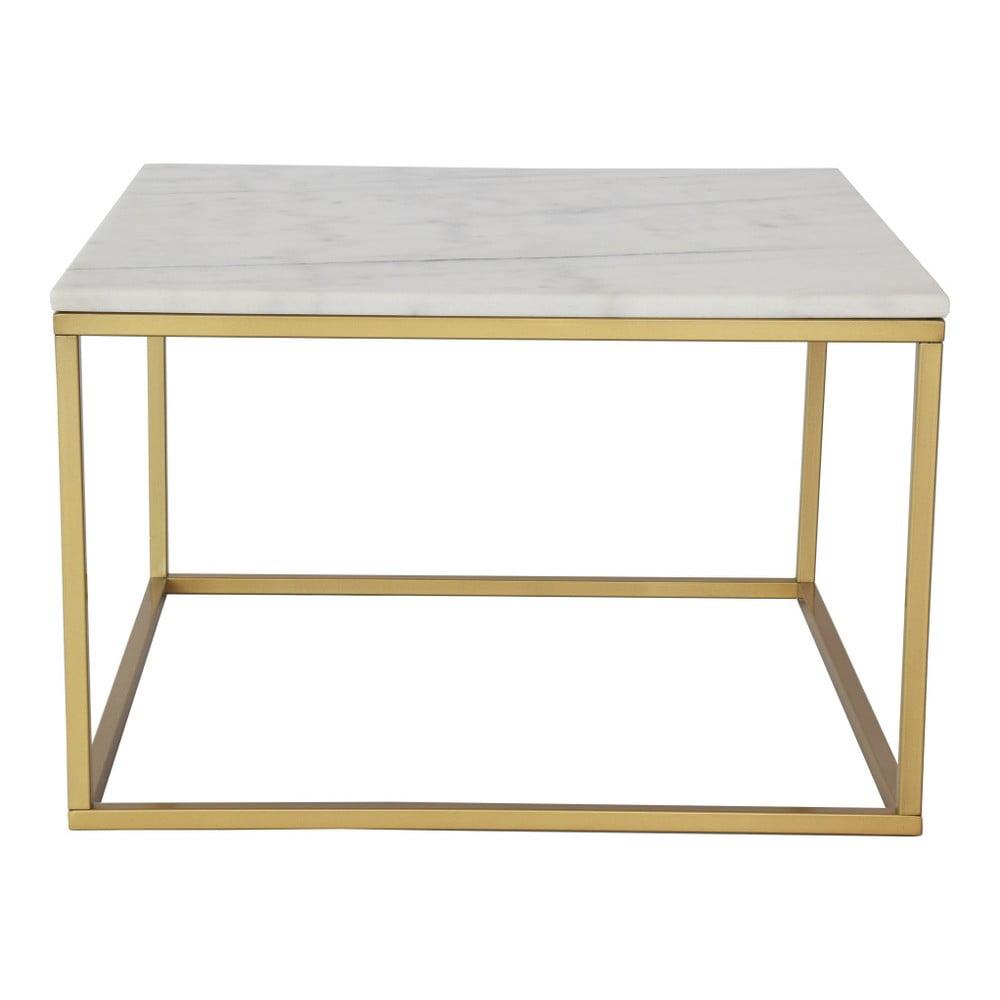 Mramorový konferenční stolek s konstrukcí v barvě mosazi RGE Accent, šířka75cm