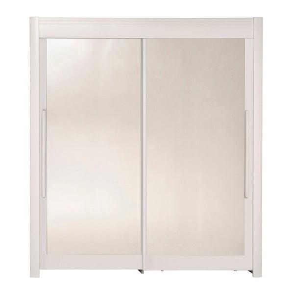Bílá šatní skříň s posuvnými dveřmi Parisot Adorlée, šířka180cm