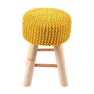 Taburetka Knitted Yellow