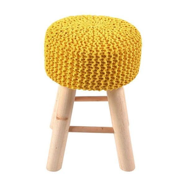 Taburetka Knitted Yellow