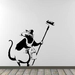 Samolepka na zeď Rat Painter by Banksy