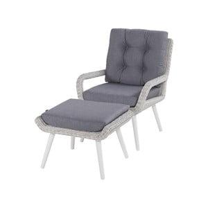 Proutěná zahradní židle s podnožkou Hartman Casablaca