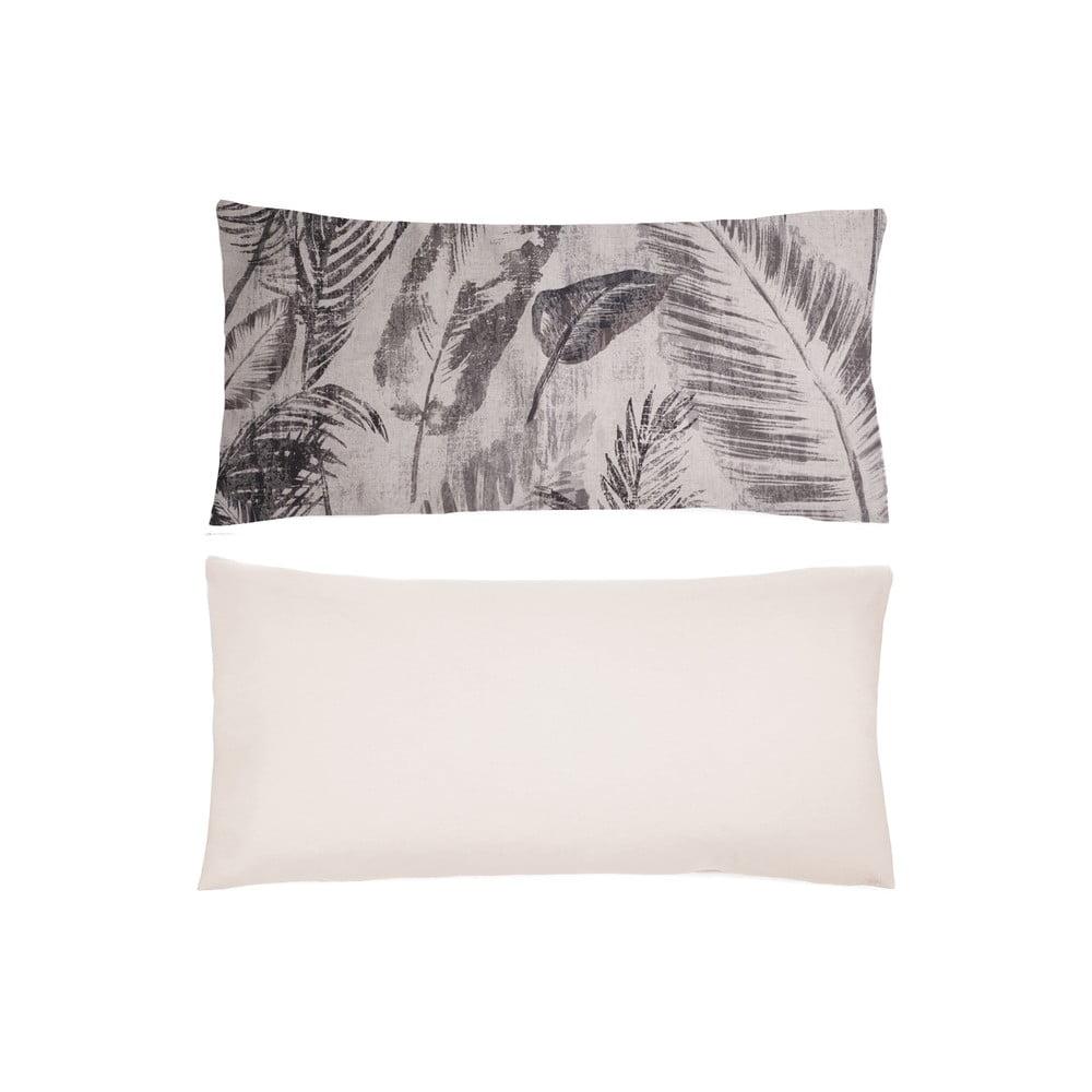 Sada 2 bavlněných povlaků na polštář s příměsí lnu L'Officiel Interiors Manaus, 40 x 80 cm