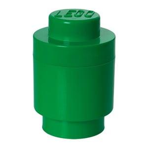 Zelený úložný kulatý box LEGO®