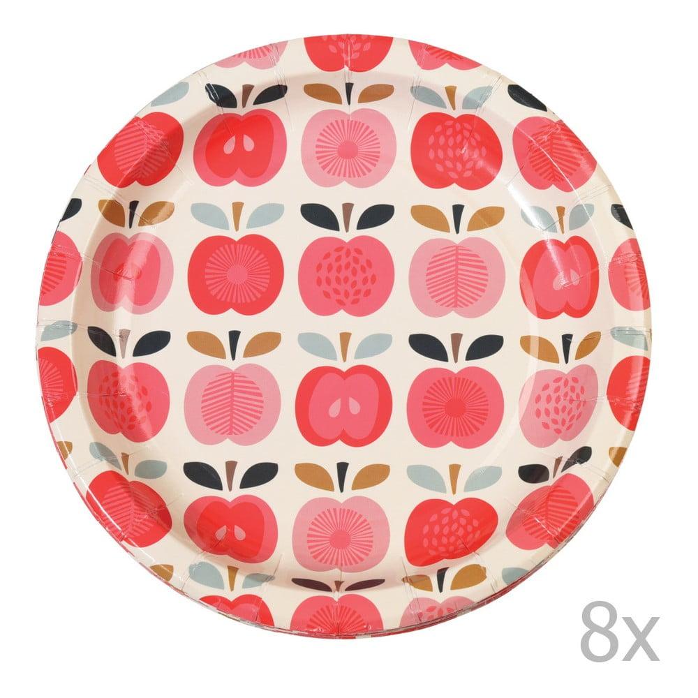 Sada 8 papírovýc talířů Rex London Vintage Apple