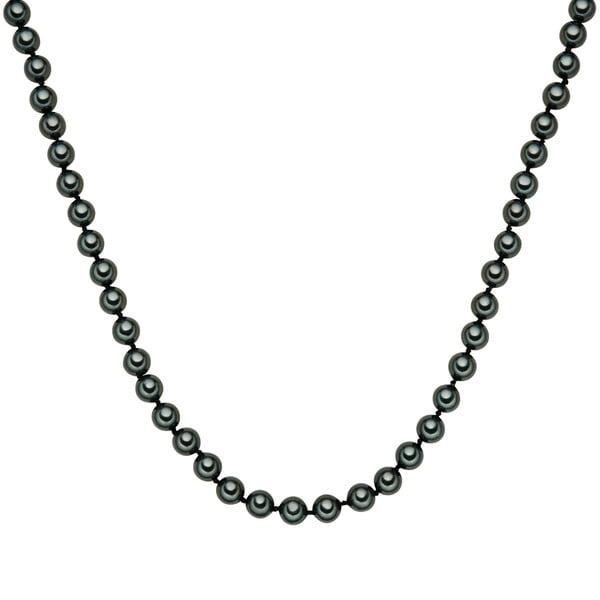 Náhrdelník se zelenými perlami ⌀8 mm Perldesse Muschel, délka 120 cm