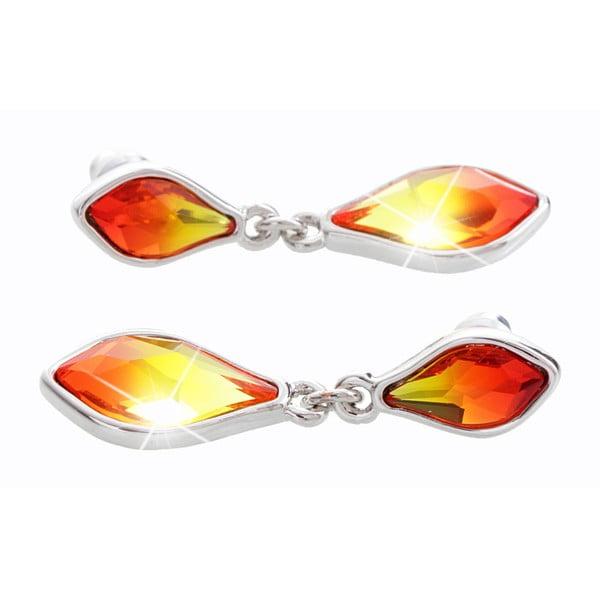 Náušnice s krystaly Swarovski® Yasmine Helle Fire