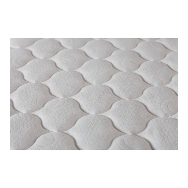 Šedá postel s matrací Stella Cadente Syrius Forme, 140x200 cm