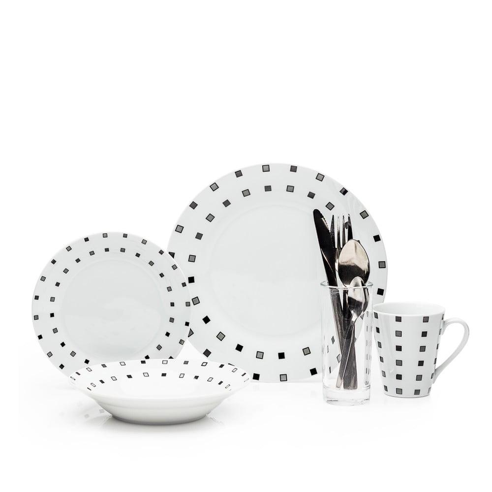 36dílná sada porcelánového nádobí a příborů Sabichi Revive