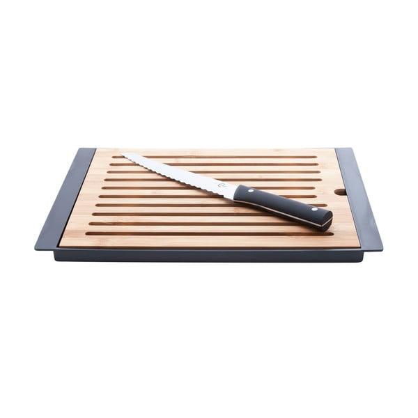 Bambusové krájecí prkénko s nožem Cosy&Trendy Nero, 38x27cm