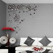 Samolepka na stěnu Hejno motýlků se Swarovski kamínky