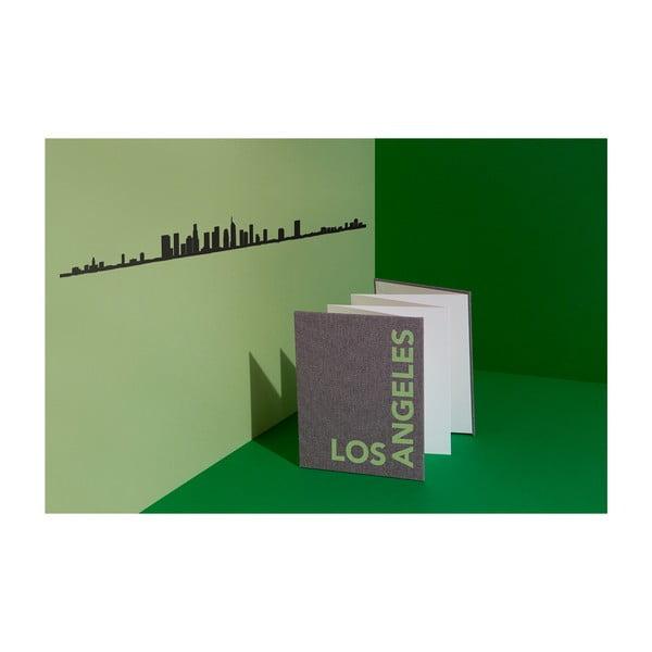 Černá nástěnná dekorace se siluetou města The Line Los Angeles XL
