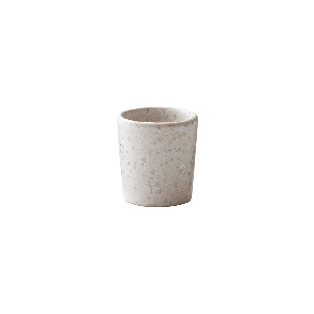 Krémový kameninový kalíšek na vajíčko Bitz Basics Matte Cream