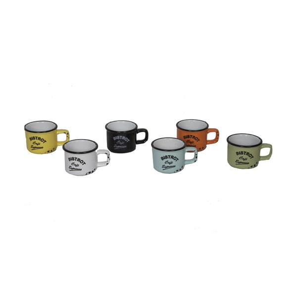 Set 6 căni Antic Line Bistrot, 120 ml