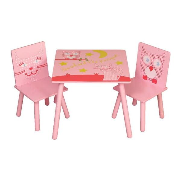 Dětský stůl a 2 židle Owl & Pussycat