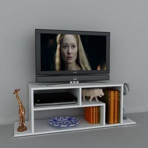 Stolek na televizi Fagus White, 29,5x120x41,8 cm