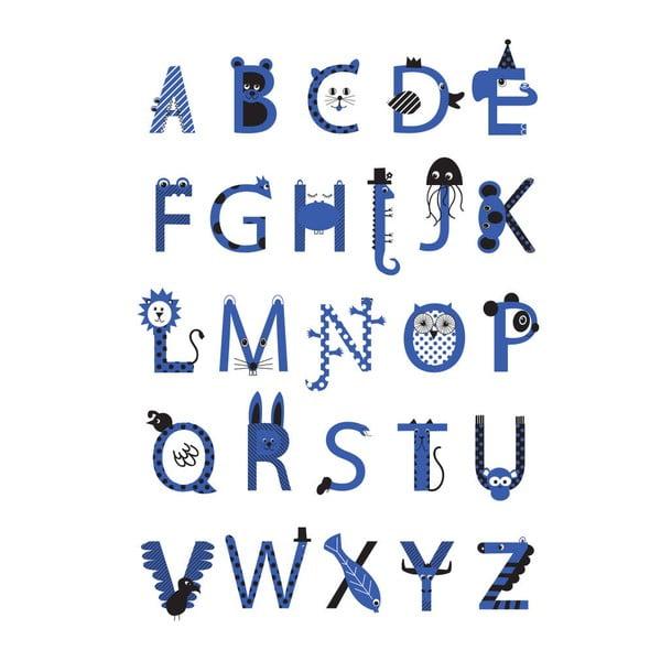 Plakát Karin Åkesson Design Alphabet Blue, 30x40 cm