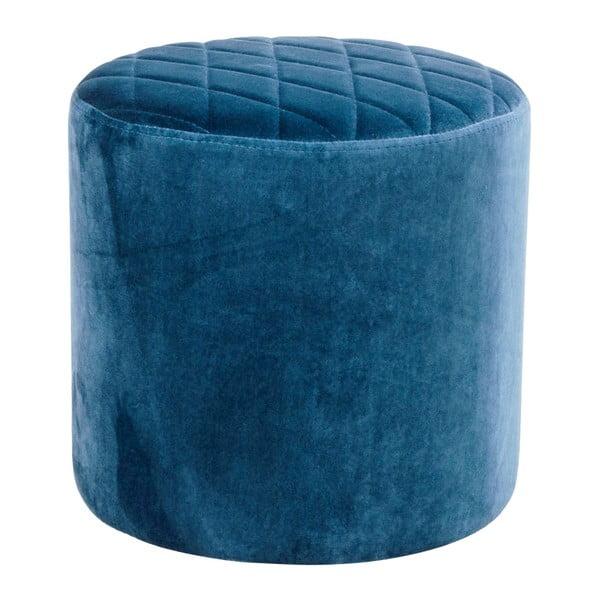 Modrý puf zo zamatu House Nordic Ejby