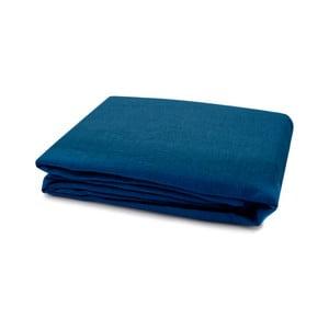 Tmavě modrý lněný povlak na peřinu L'Officiel Interiors, 200x200cm