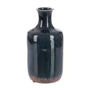 Váza Dark Petrol, 13x13x26 cm