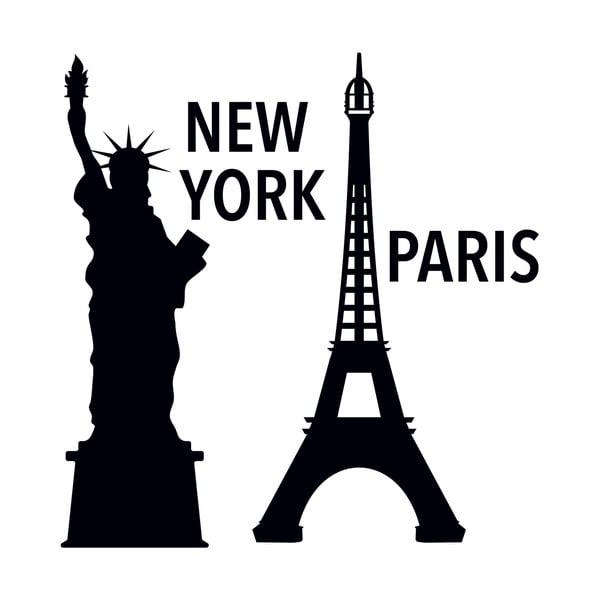 Dekorativní samolepka NY a Paříž