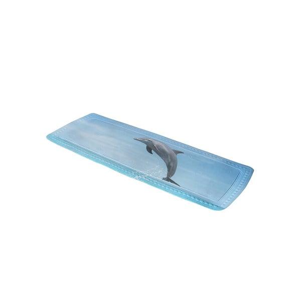 Koupelnová předložka Delfin Blue, 36x92 cm