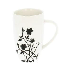 Bílý porcelánový hrnek s motivem popínavé květiny Duo Gift, 270 ml