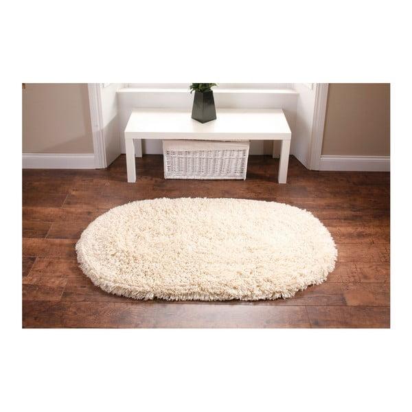 Krémový koberec Think Rugs Rainbow Cream, 75x135cm