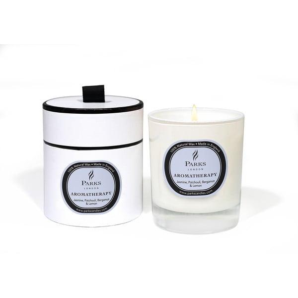 Sviečka s vôňou jazmínu, pačuli a citróna Parks Candles London Aromatherapy, 50hodín horenia