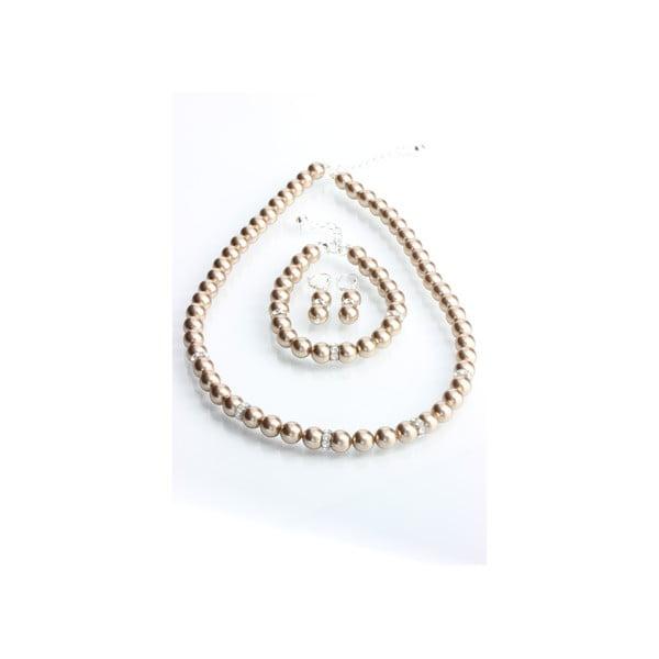 Set náušnice, náramku a náhrdelníku Laura Bruni Pearl Mix