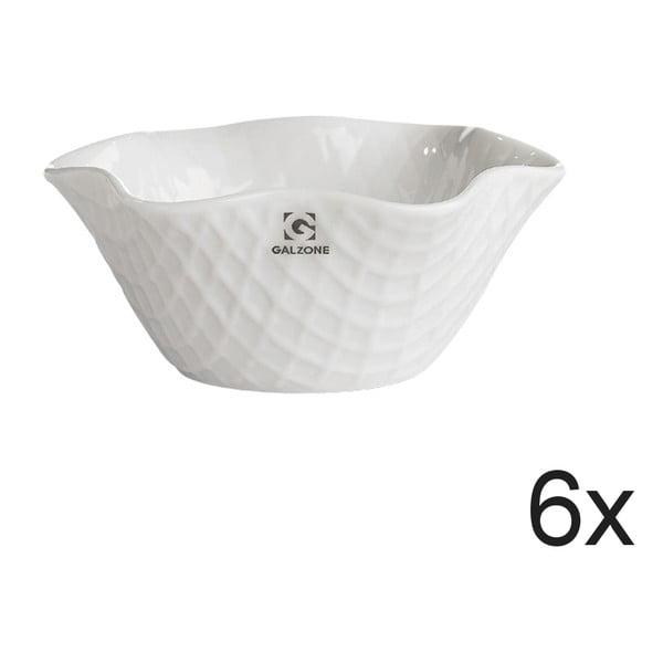 Sada 6 servírovacích a zapékacích misek Bianco, 11,5x5,5 cm