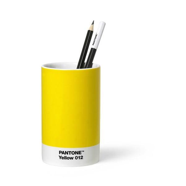 Žlutý keramický stojánek na tužky Pantone
