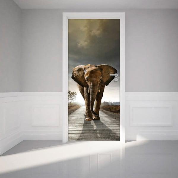 Naklejka elektrostyczna na drzwi Fanastick Elephant