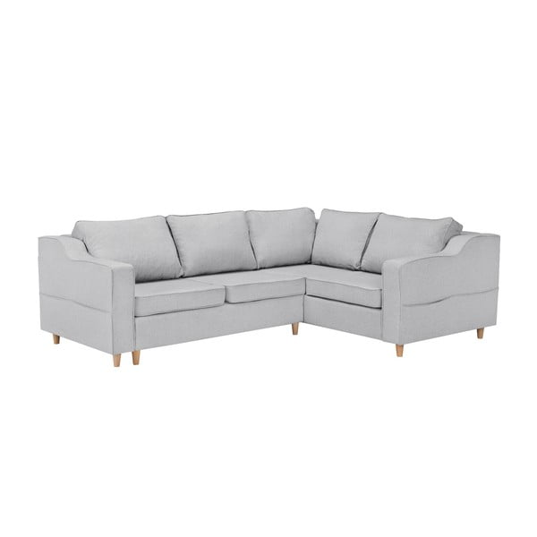 Jonquille világosszürke négyszemélyes kinyitható kanapé, jobb oldali - Mazzini Sofas